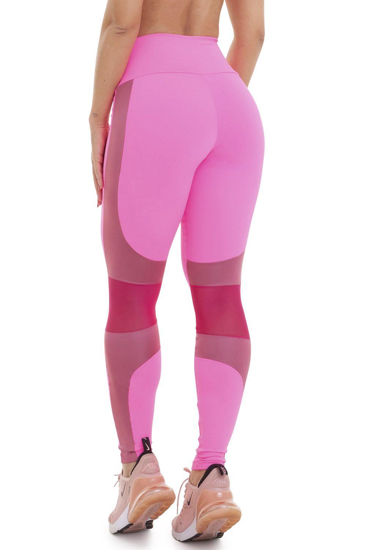 Calça Legging Profile Pink Fluor