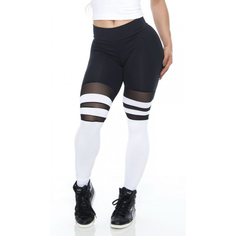 LEGGING SOCKS BLACK AND WHITE