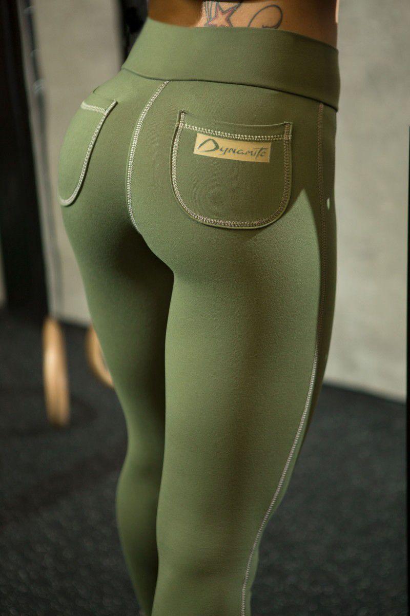 Legging Verde Bolso Redondo