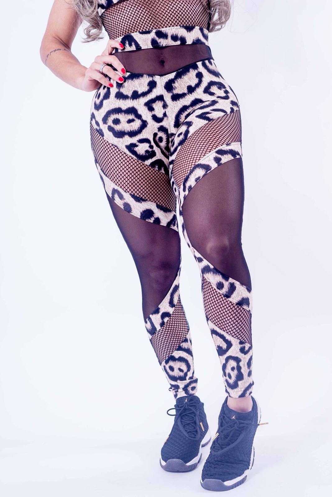 Macacão Elektra Animal Print Jaguar