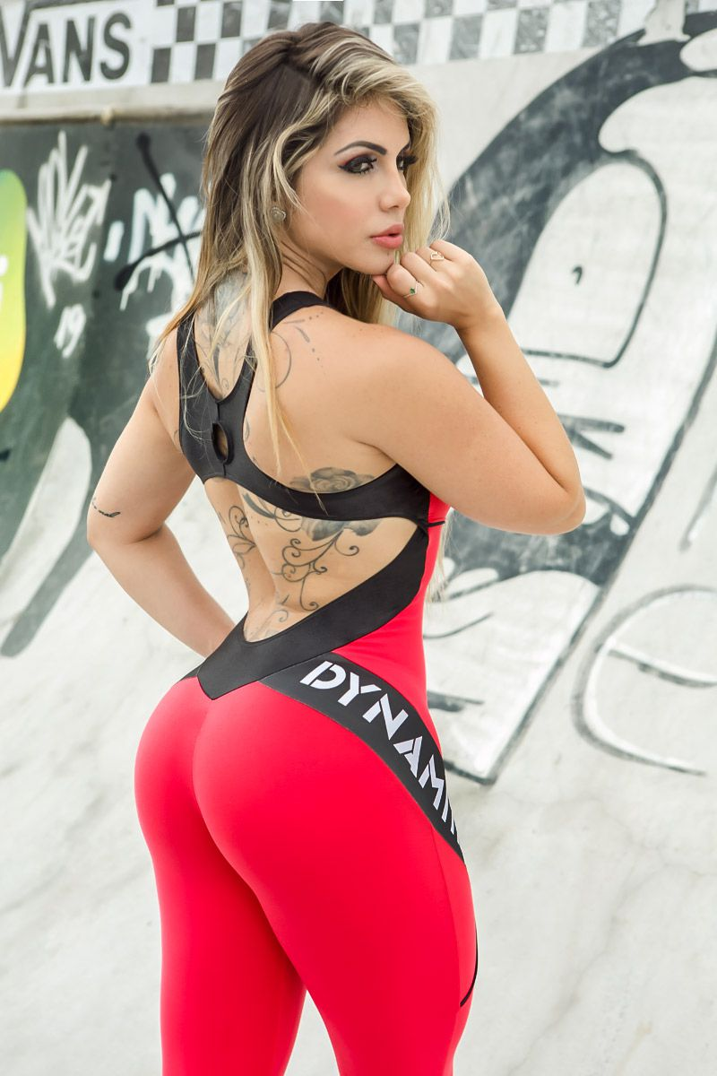 Macacão Vermelho Fitness Sunset