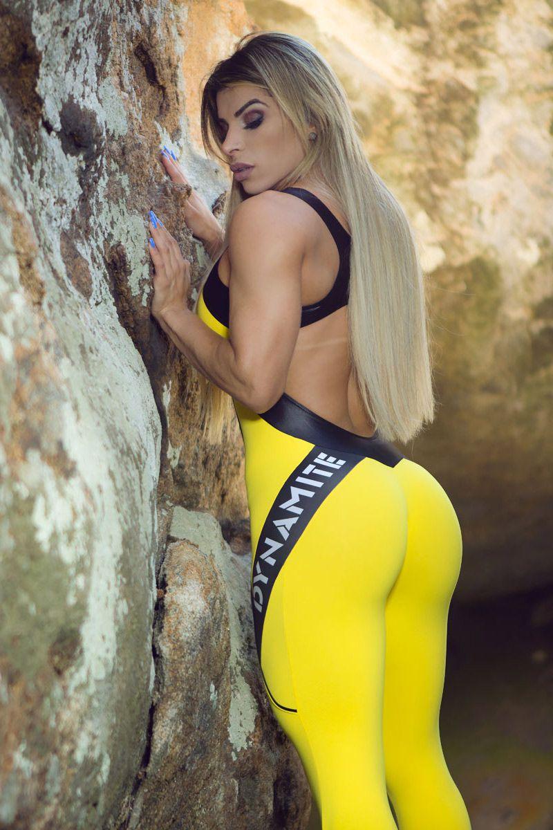 Macacão Fitness Amarelo