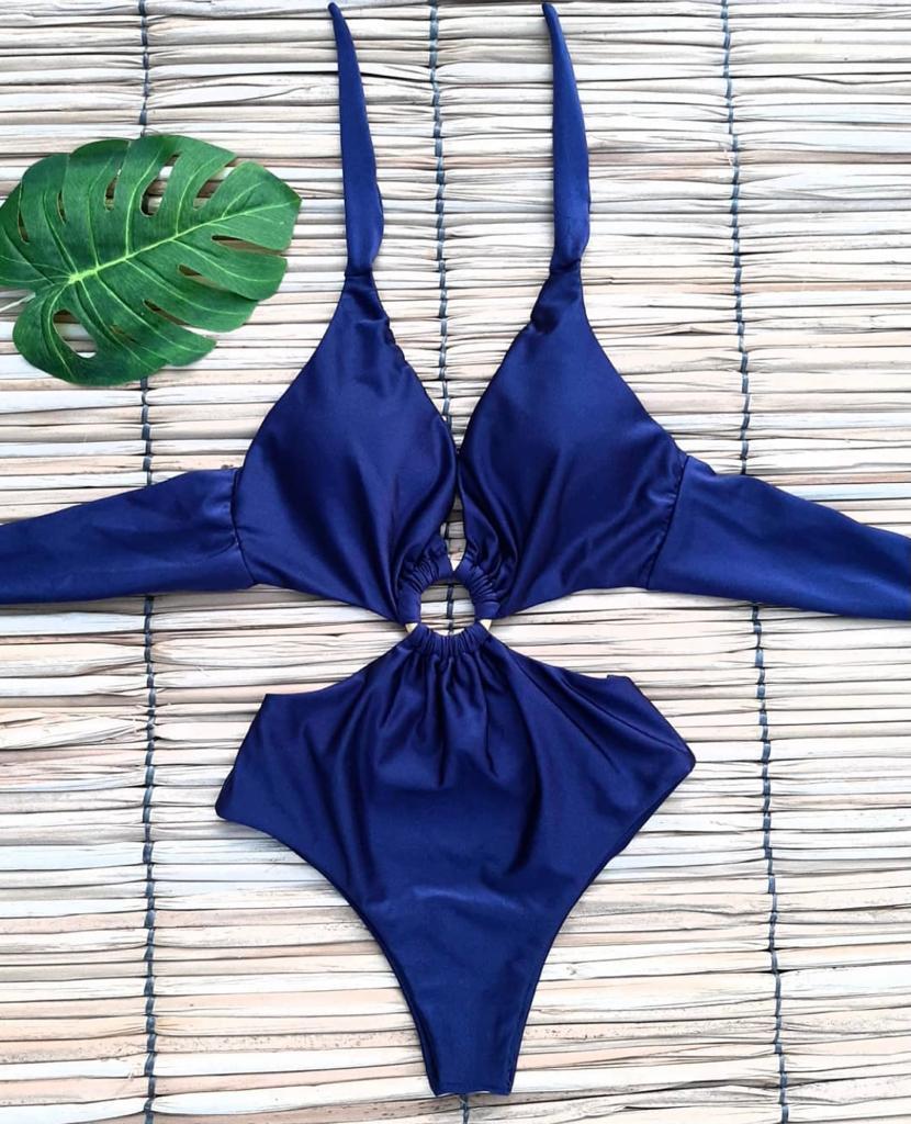 Maiô Argola Azul Marinho