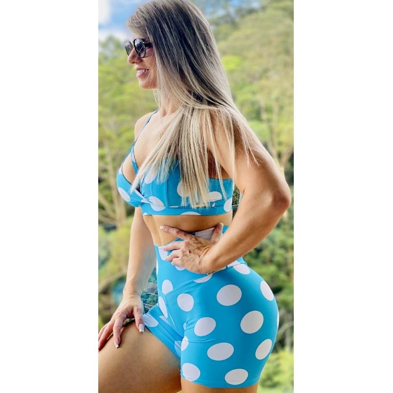 Short Empina Bumbum Azul Tiffany