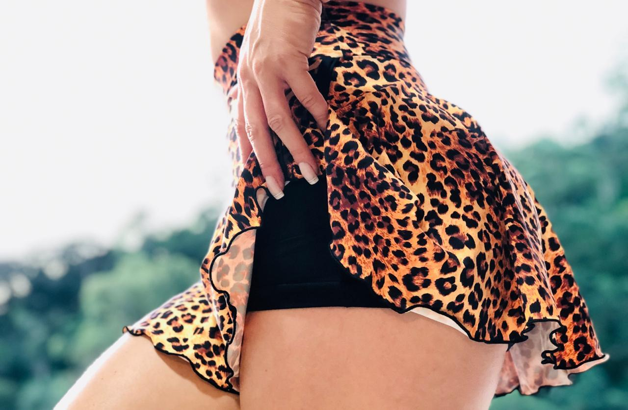 Short Saia Animal Print