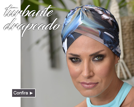 turbante drapeado