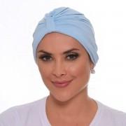 Turbante Fechado Argola Azul Baby