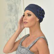 Turbante Feminino Fiore Cor Marinho com Azul Royal