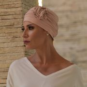 Turbante Feminino Fiore Cor Rosê com Nude