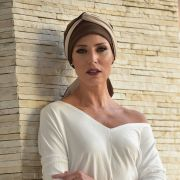 Turbante Feminino Vicky Café com Nude