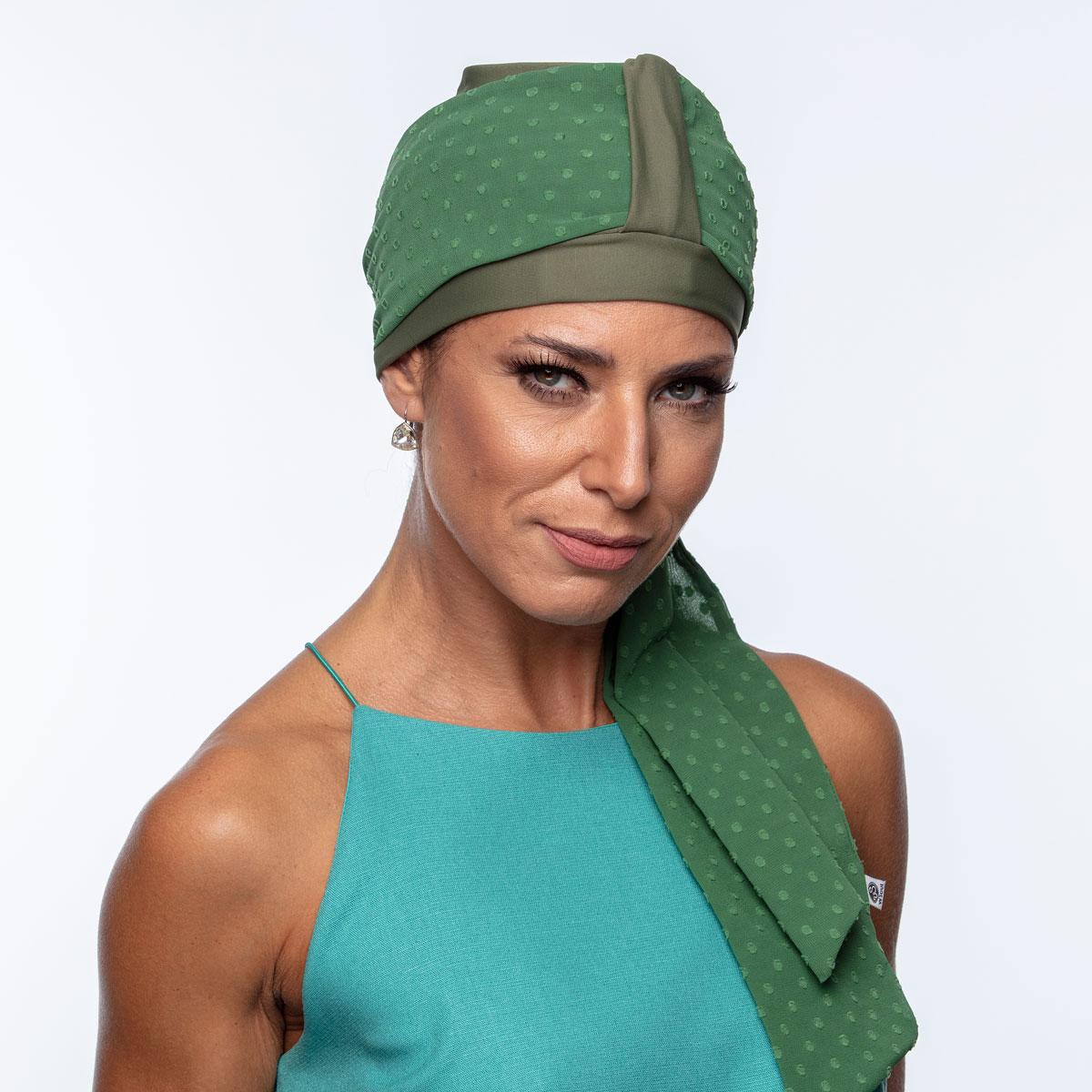Conjunto Faixa Lille 10X140 + Turbante Basic Verde Oliva