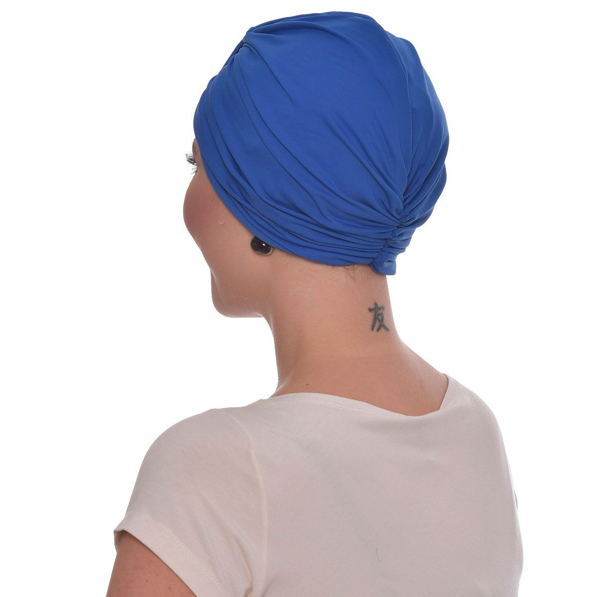 Turbante Fechado Argola Azul Royal