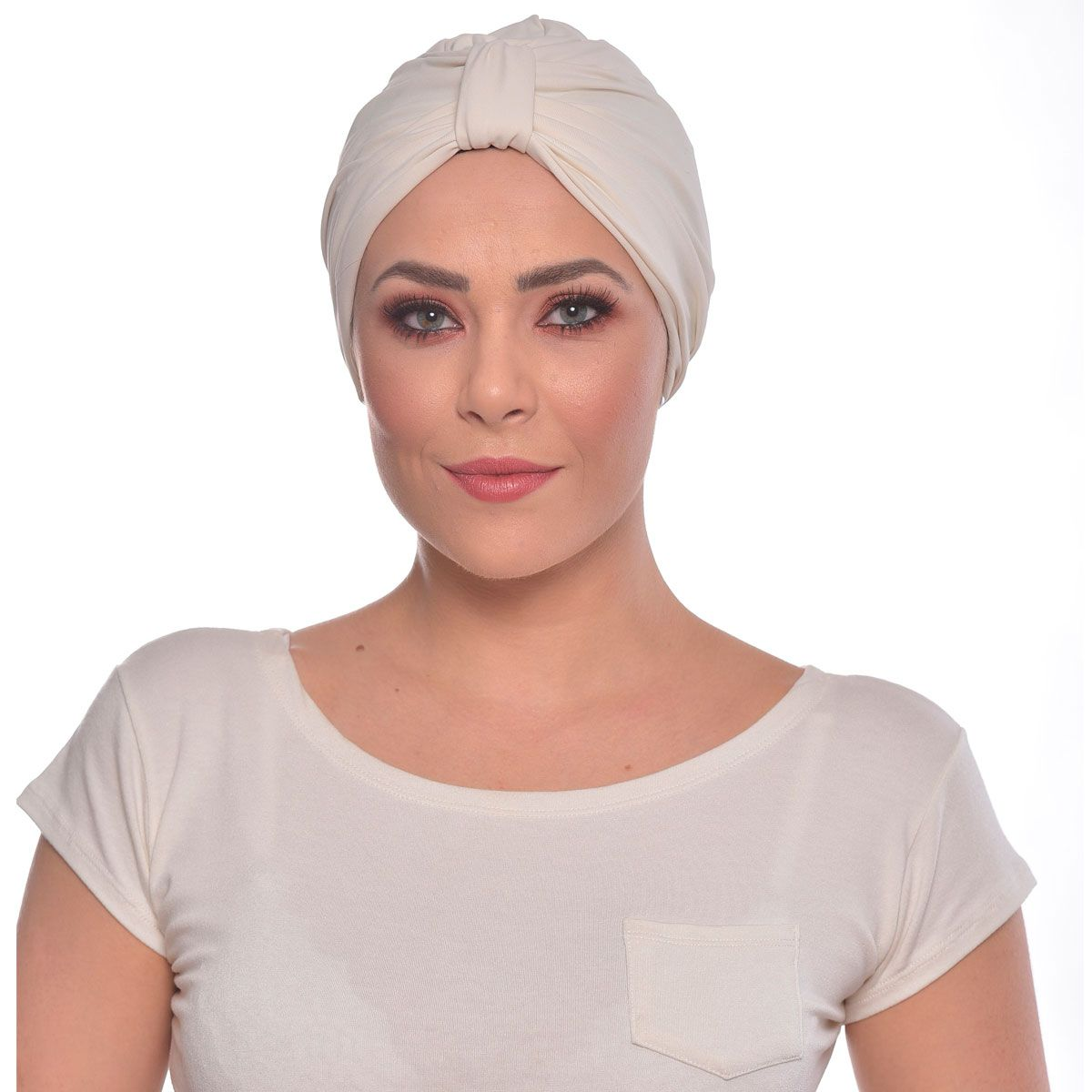 Turbante Fechado Argola Off White