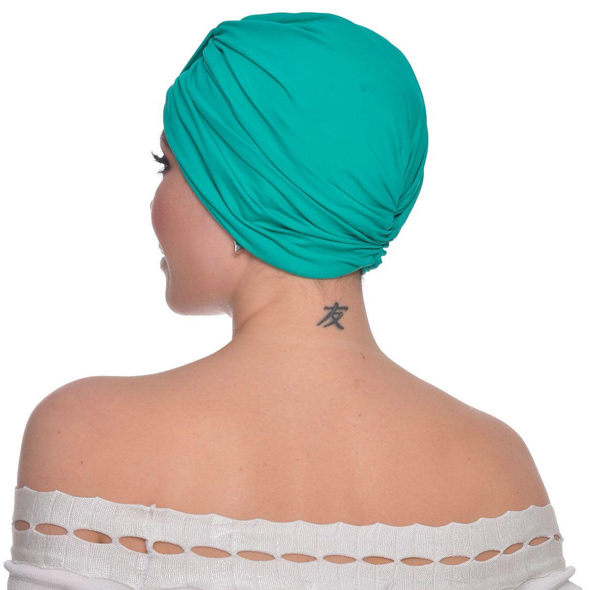 Turbante Fechado Argola Verde Esmeralda
