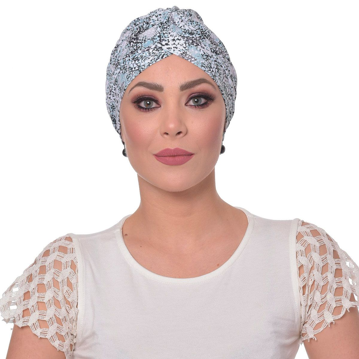 Turbante Fechado Drapeado Animal Print