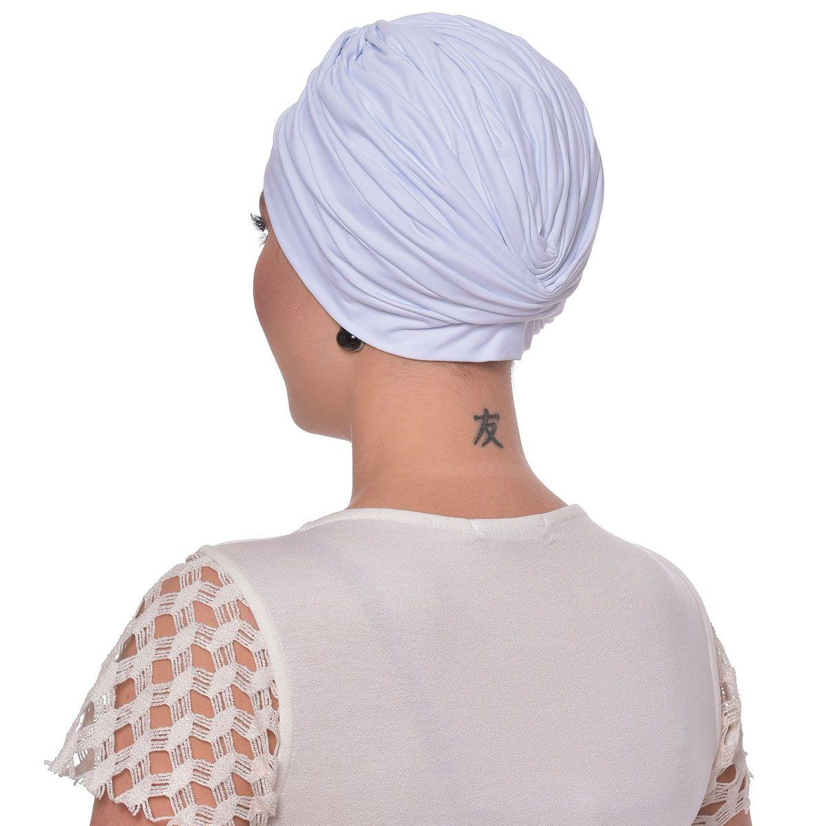 Turbante Fechado Drapeado Branco