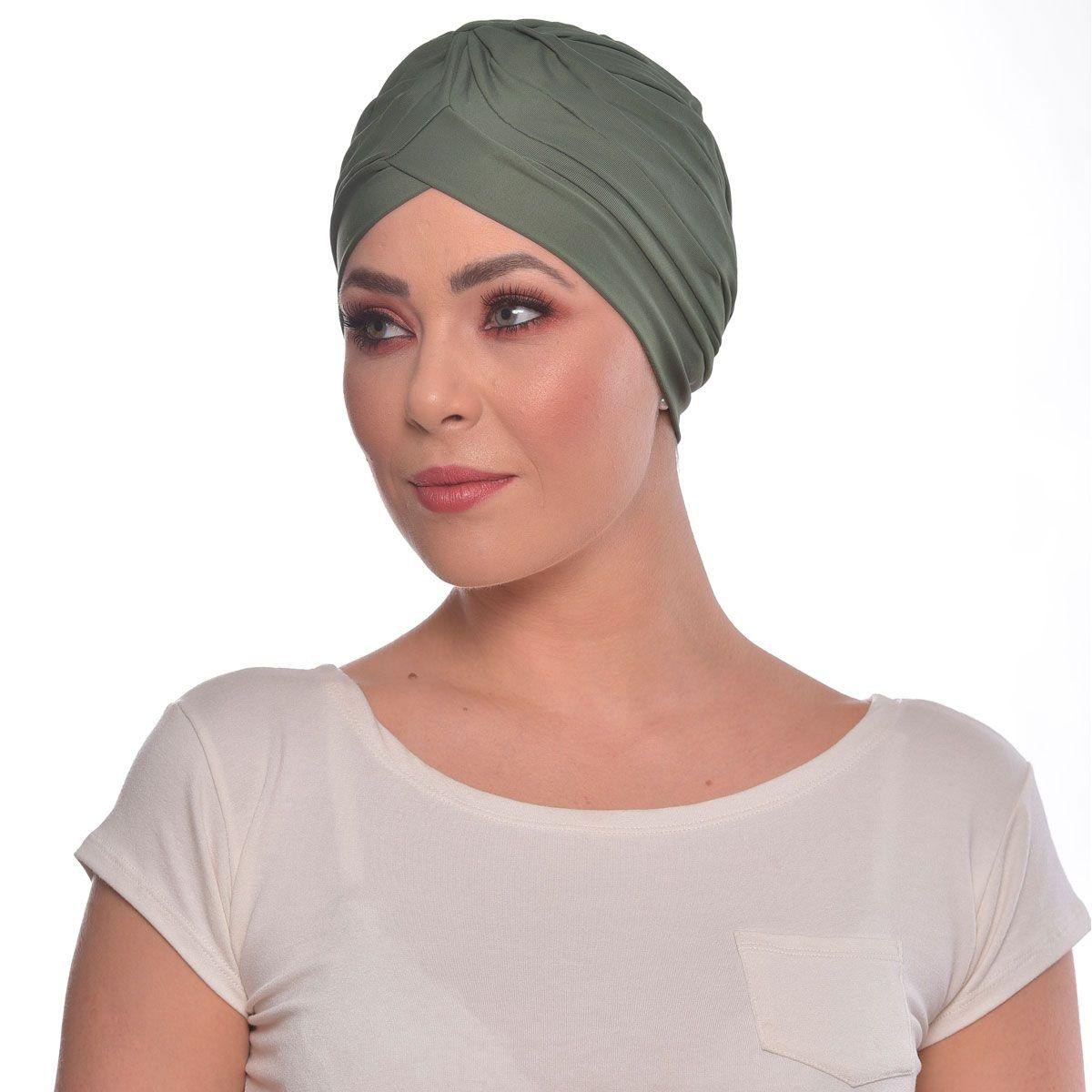 Turbante Fechado Drapeado Verde Bandeira