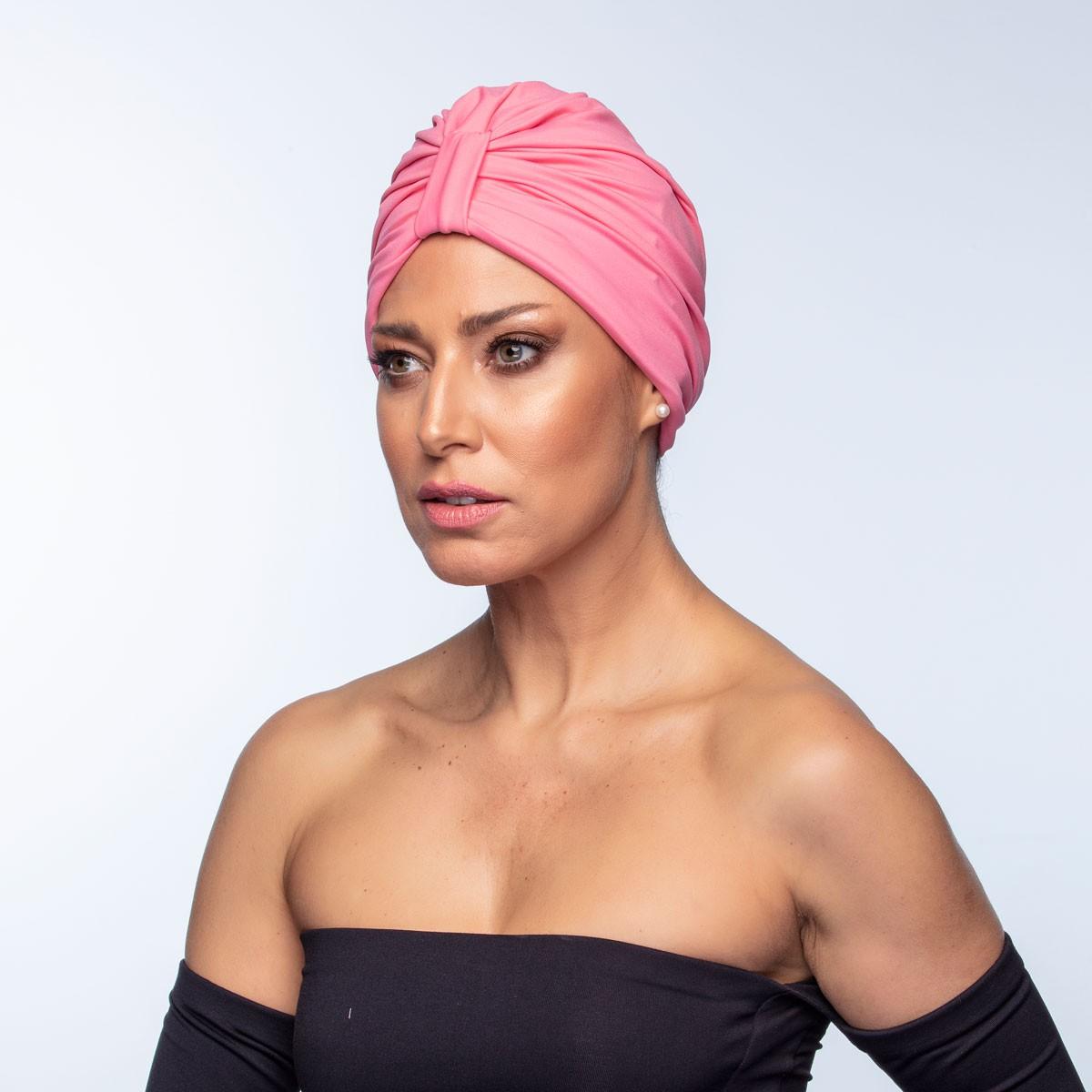 Turbante Feminino Argola Rosa Carmim