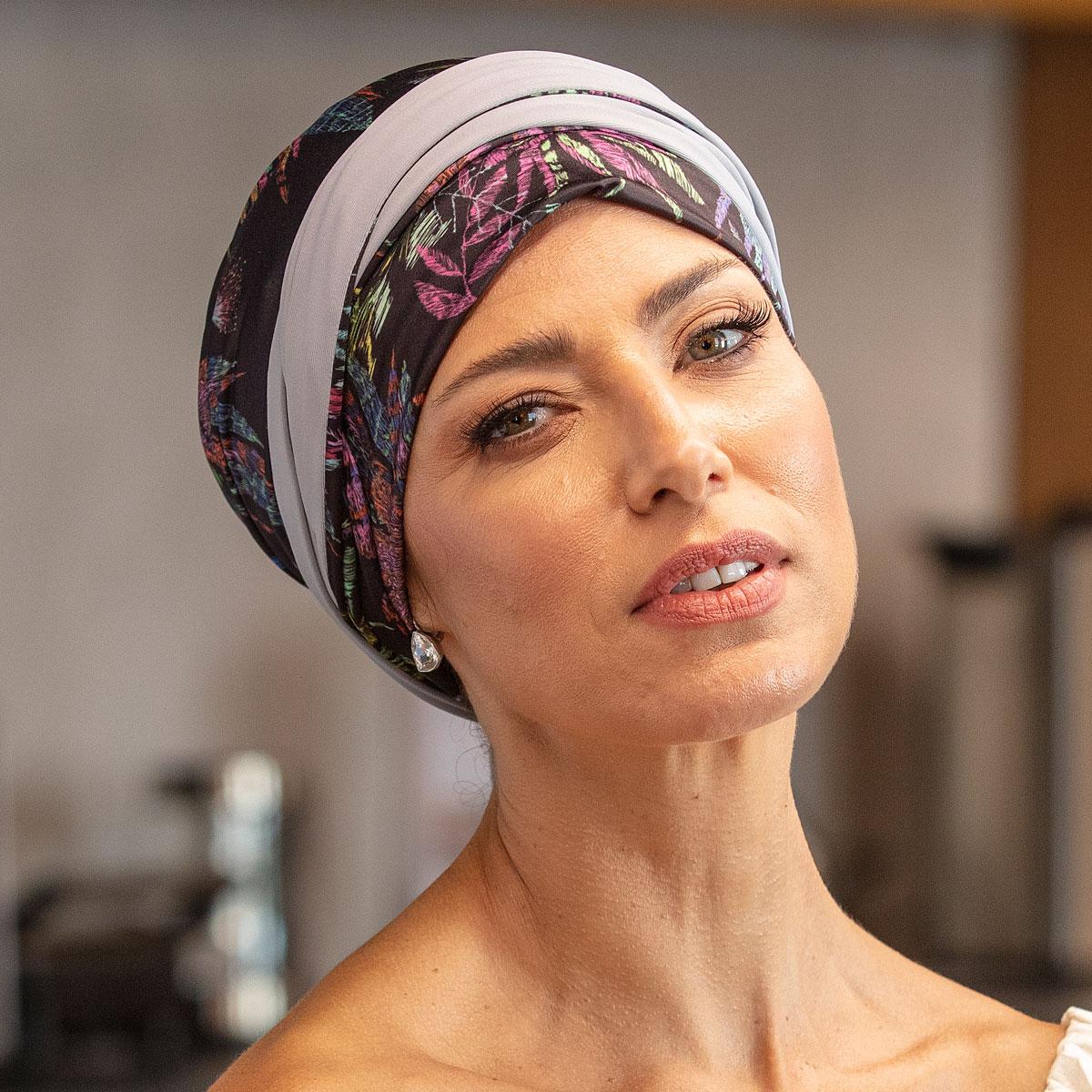Turbante Feminino Dupla Face Vicky Mayara