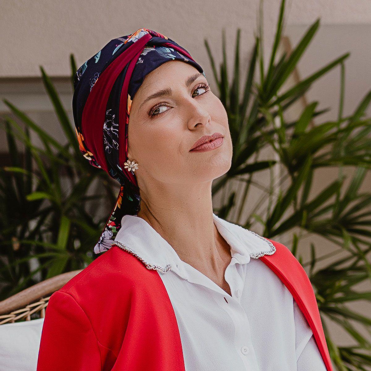 Turbante Feminino Dupla Face Vicky Quitéria