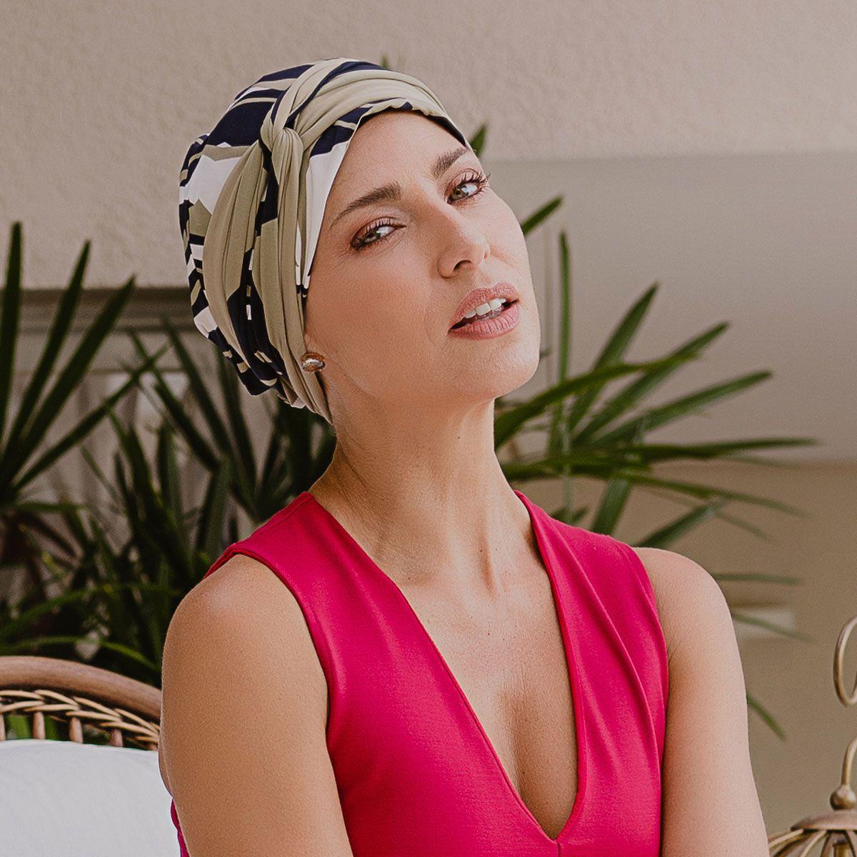 Turbante Feminino Dupla Face Vicky Serena
