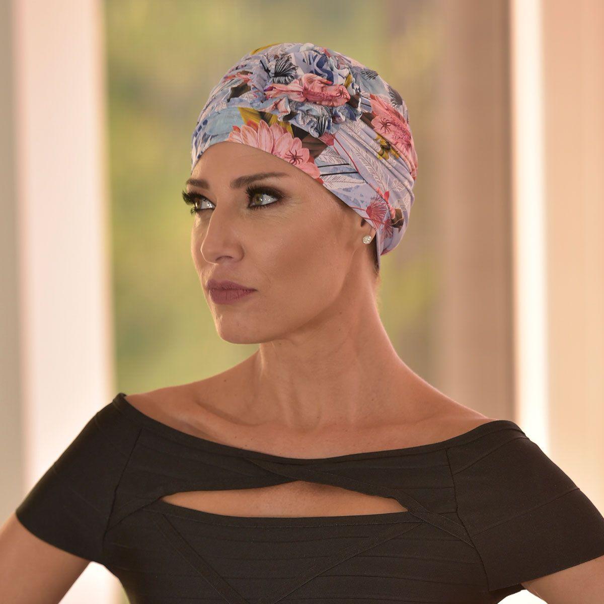 Turbante Feminino Fiore Estampa Donatella