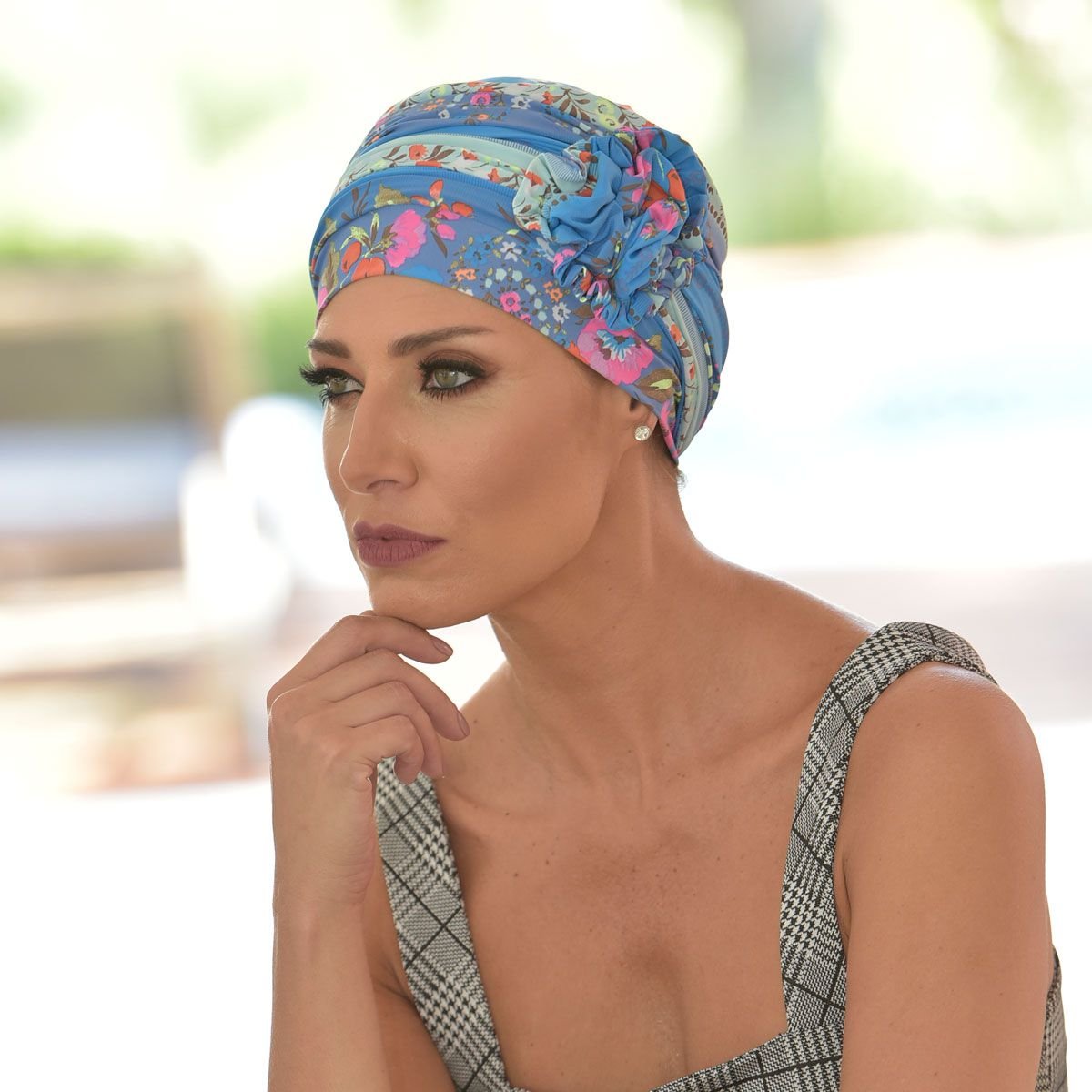 Turbante Feminino Fiore Estampa Leticia