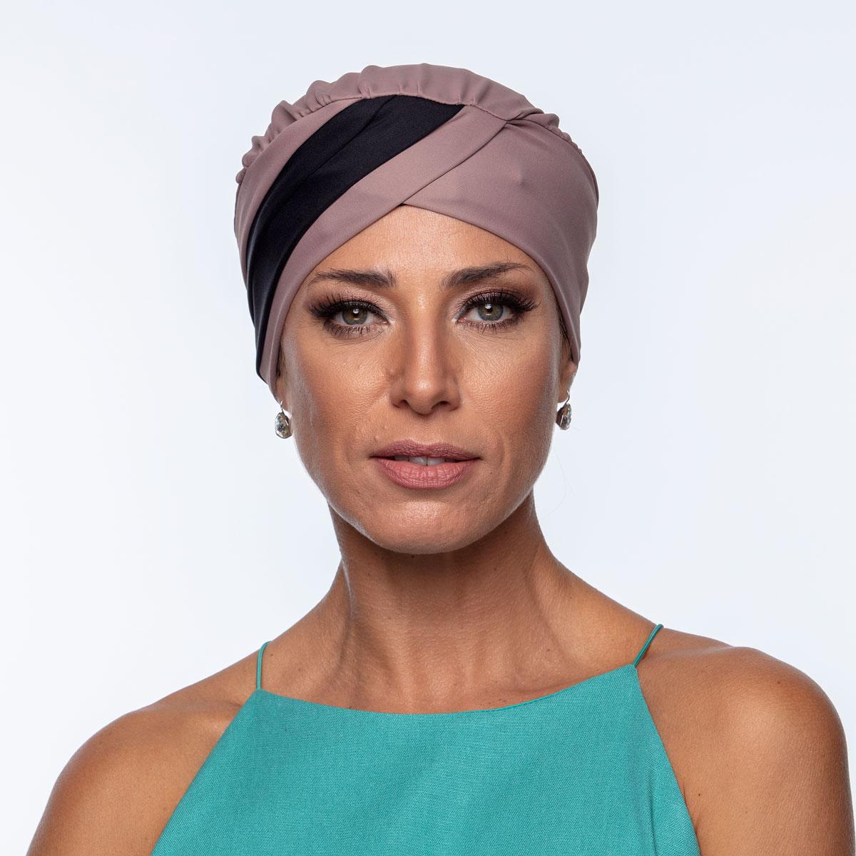 Turbante Feminino Gabi Castanho com Preto