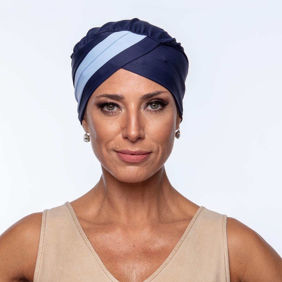 Turbante Feminino Gabi Marinho com Azul Claro