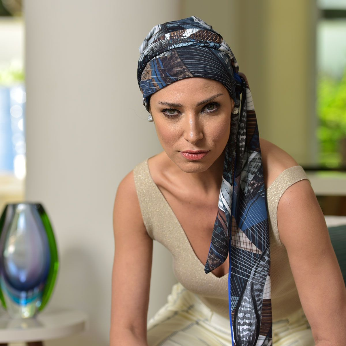 Turbante Feminino Vicky Estampa Maya