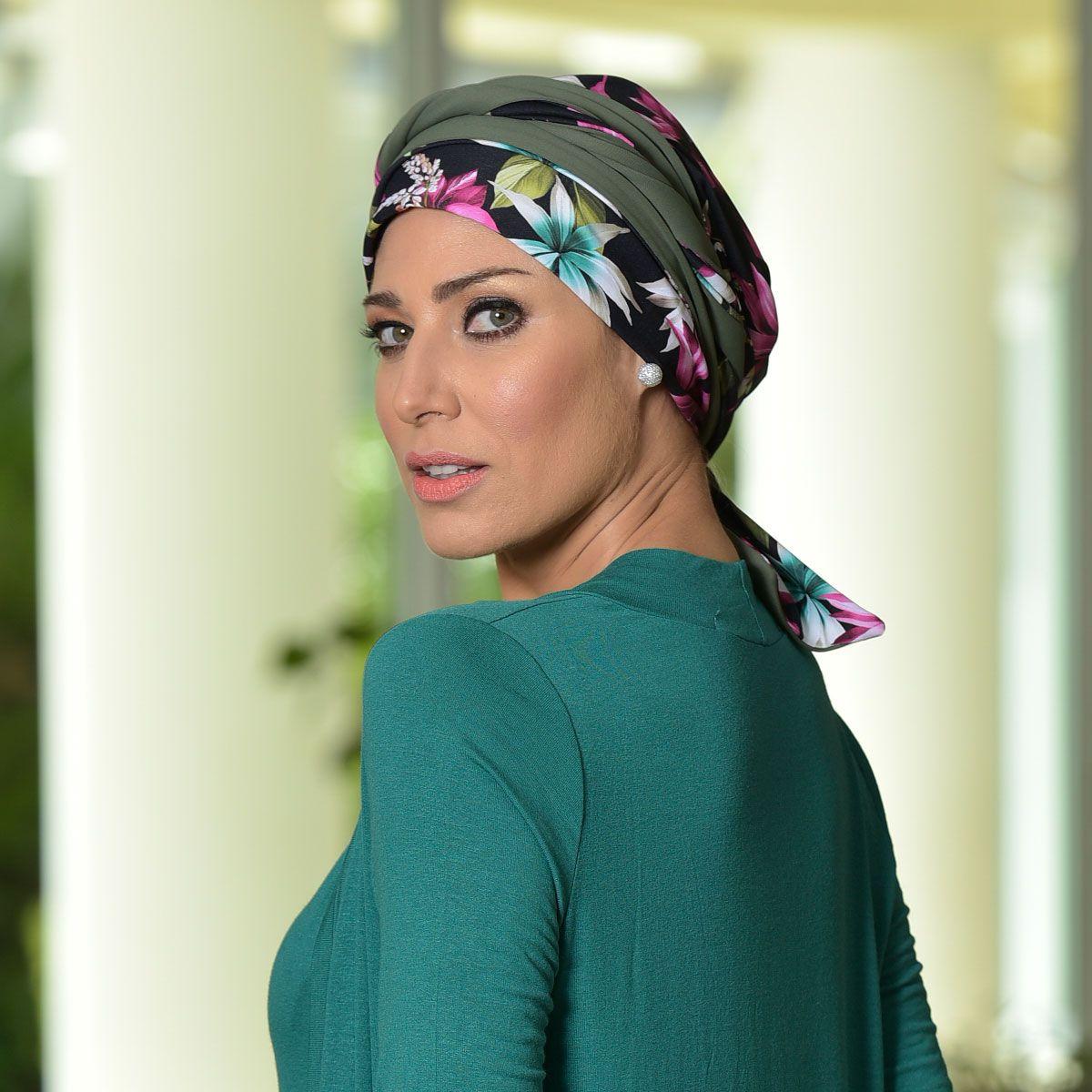 Turbante Feminino Dupla Face Vicky Madalena