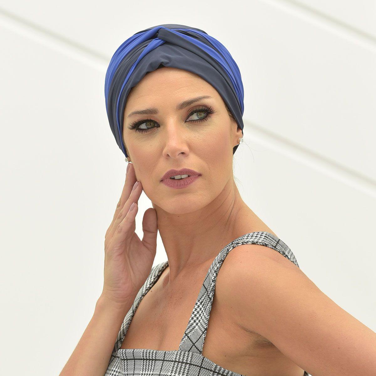 Turbante Feminino Vicky Marinho com Azul Royal