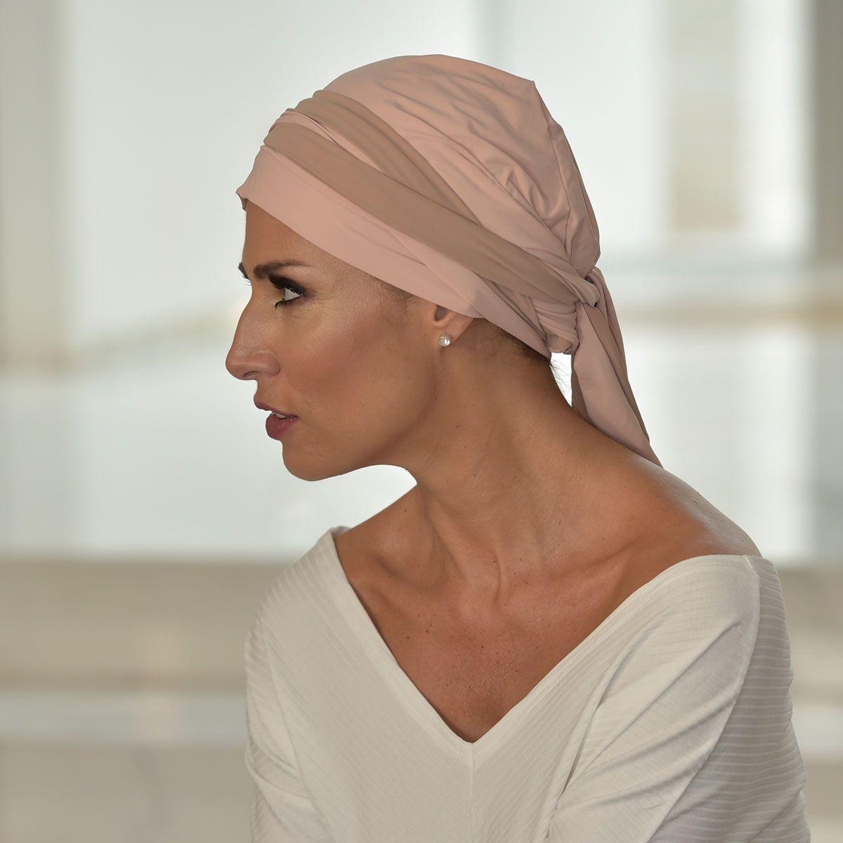 Turbante Feminino Vicky Rosê com Nude.