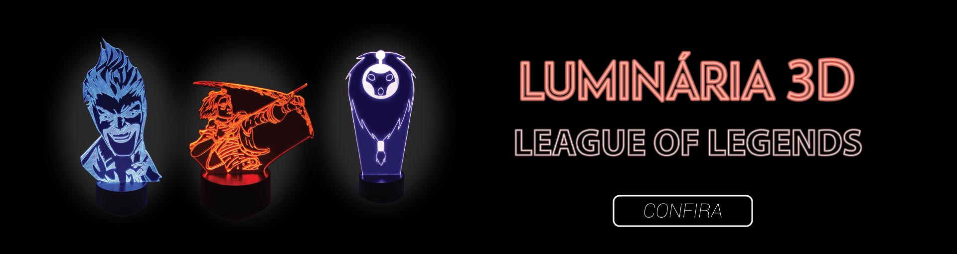 Luminária 3D League of Legends