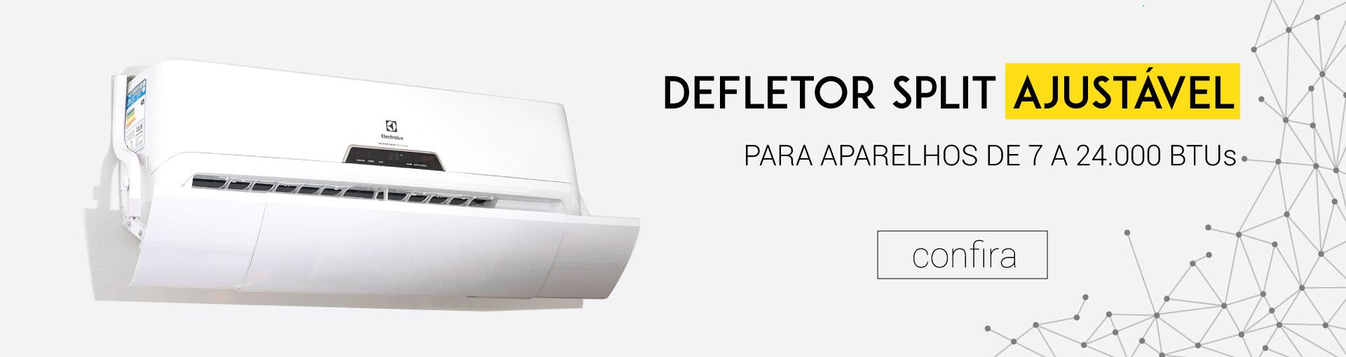 Defletor split ajustável