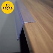Kit Etiqueta PVC para Prateleira 100cm - 10 peças