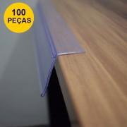 Kit Etiqueta PVC para Prateleira 30CM - 100 Peças