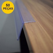 Kit Etiqueta PVC para Prateleira 30CM - 50 Peças