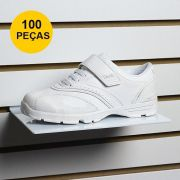 Kit Expositor de Calçado em Acrílico Branco - 100 Peças