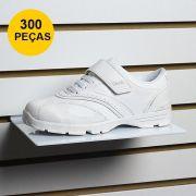 Kit Expositor de Calçado em Acrílico Branco - 300 Peças