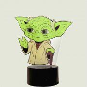 Luminária 3D com Impressão Digital  - Mestre Yoda Star Wars