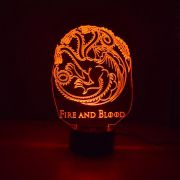 Luminária 3D - Targaryen Game Of Thrones