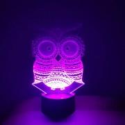 Luminária de Led - Coruja Ornamental