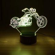 Luminária 3D - Moto