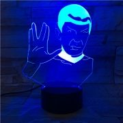 Luminária de Led - Spock Star Trek