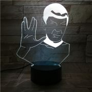 LUMINÁRIA 3D - SPOCK STAR TREK