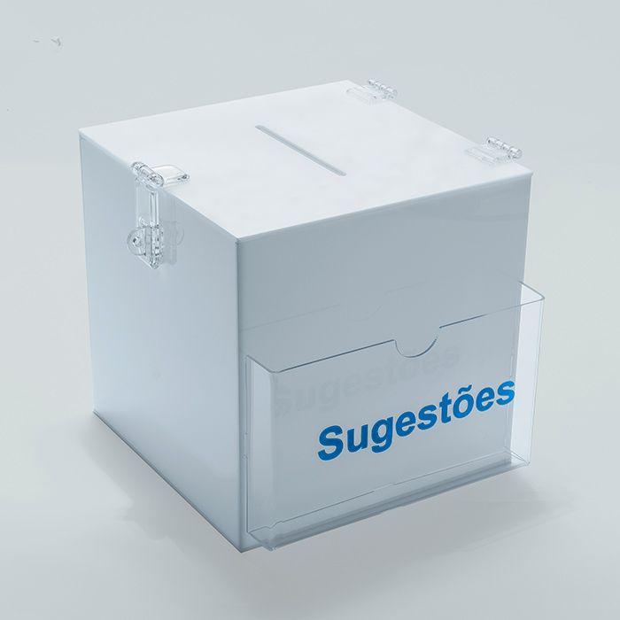 Caixa de Sugestões em Acrílico 30x30cm