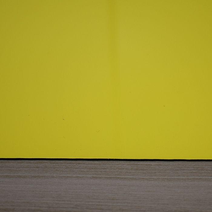 Chapa em Abs Dupla Camada - Amarelo/ Preto