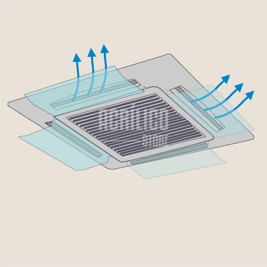 Defletor em Acrílico para Ar Condicionado Cassete 37x30cm