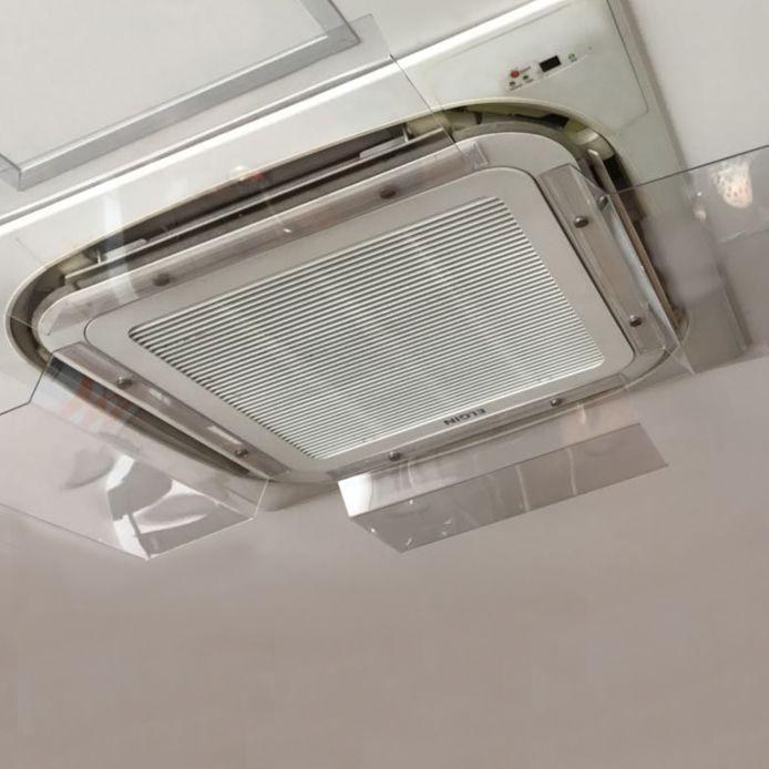 Defletor em Acrílico para Ar Condicionado Cassete 45x30cm